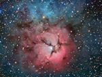 trifid nebula and stars